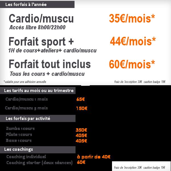 tarifs adequasport3